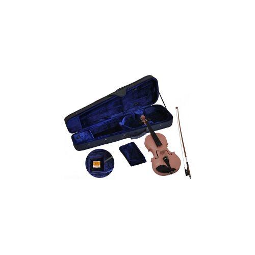 Steinbach 4/4 Geige im SET pink handgearbeitet Kindergeige rosa pink geige für maedchen Geigenset Violine Violinset