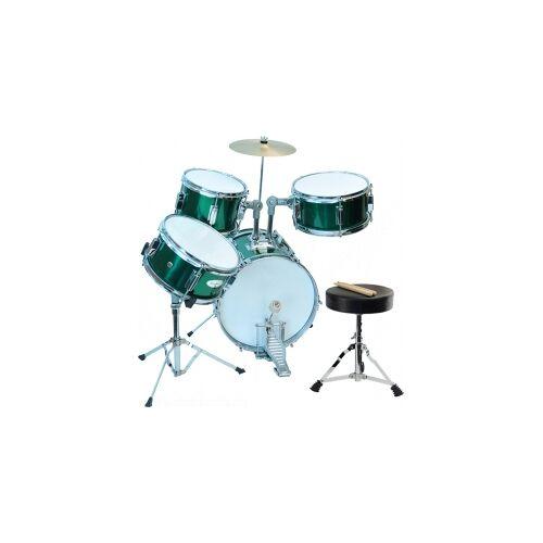 Steinbach Kinderschlagzeug 14 Zoll +SD grün Altersempfehlung ca. 2-7 Jahre Schlagzeugset SJDS-500-3 GR grünes Kinderschlagzeug Jugendschlagzeug Juniorschlagzeug Drum-Set Juniordrumset