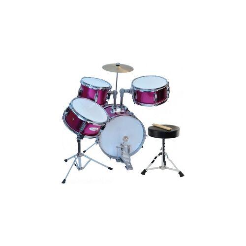 Steinbach Kinderschlagzeug 14 Zoll +SD pink Altersempfehlung ca. 2-7 Jahre Schlagzeugset SJDS-500-3 PK pink Kinderschlagzeug Jugendschlagzeug Juniorschlagzeug Drum-Set Juniordrumset ros