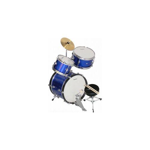 Steinbach Kinderschlagzeug 14 Zoll blau Altersempfehlung ca. 2-7 Jahre SJDS-500-4 BL Schlagzeugset BLAU Kinderschlagzeug Drum-Set Juniordrumset Jugendschlagzeug Juniorschlagzeug KIDS DRUM