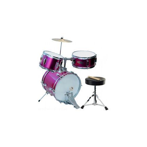 Steinbach Kinderschlagzeug 14 Zoll pink Altersempfehlung ca. 2-7 Jahre Pinkes Schlagzeugset Kinderschlagzeug SJDS-500-4 PK Juniordrumset Jugendschlagzeug Juniorschlagzeug Drum-Set rosa