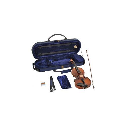 Steinbach 1/4 Geige im SET Ebenholzgarnitur angeflammter Boden Kindergeige 1/4 Geige für Anfänger Anfängergeige