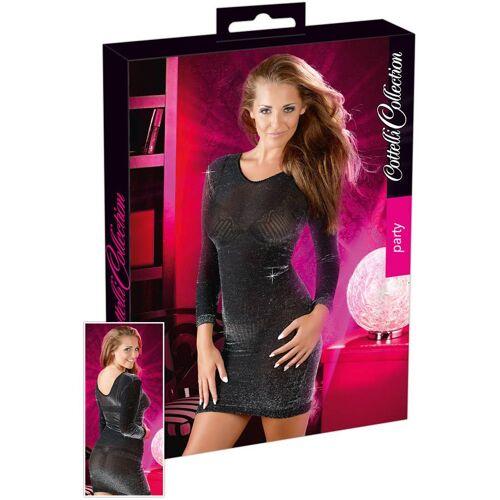 Cottelli Mini-Kleid Glitzer schwarz