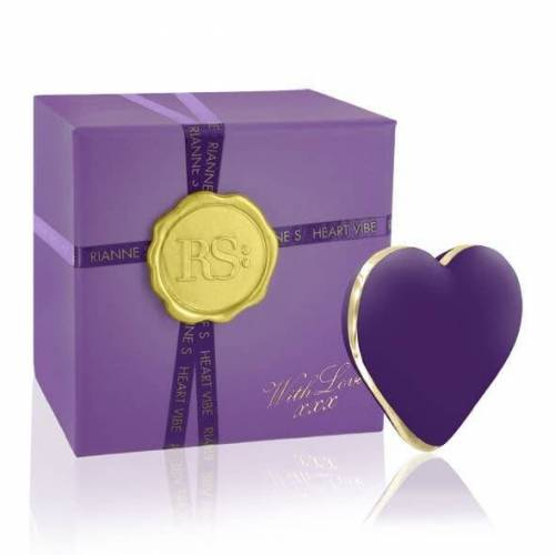 Vibe RIANNE S - Heart Vibe purple - Luxus Auflegevibrator - Akku Power
