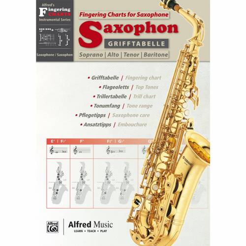 Alfred Music - Grifftabelle Saxophon
