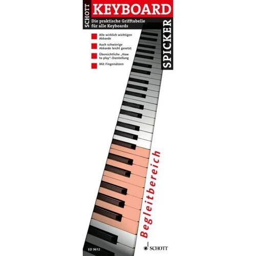 Schott Music - Keyboard-Spicker Grifftabelle für Keyboard