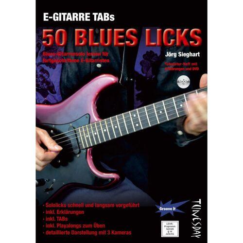 Tunesday - E-Gitarre TABs: 50 Blues Licks Buch und DVD