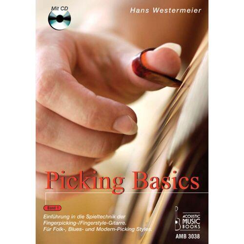 Acoustic Music Books - Picking Basics 1 für Gitarre Hans Westermeier, Buch/CD