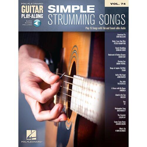 Hal Leonard - Guitar Play-Along Volume 74: Simple Strumming Songs