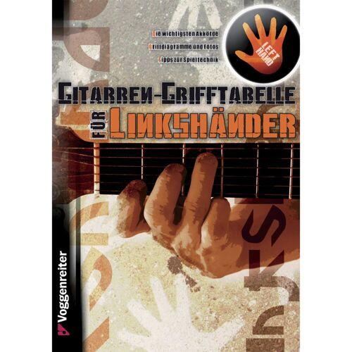 Voggenreiter - Gitarren-Grifftabelle für Linkshänder