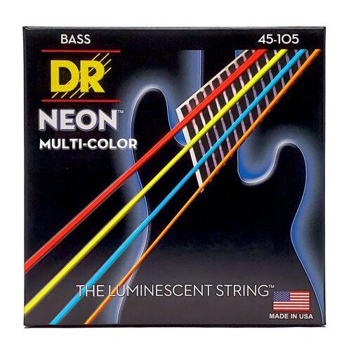 DR - 4er Bass 45-105 Hi-Def Neon Multi Color Neon MCB-45