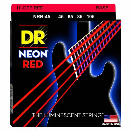 DR - 4er Bass 45-105 Hi-Def Neon Red Neon NRB-45