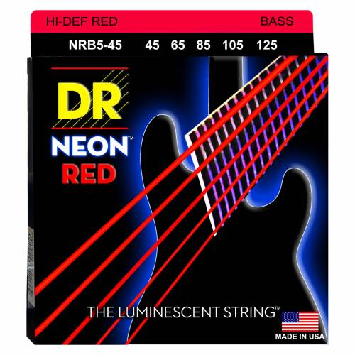 DR - 5er Bass 45-125 Hi-Def Neon Red Neon NRB5-45