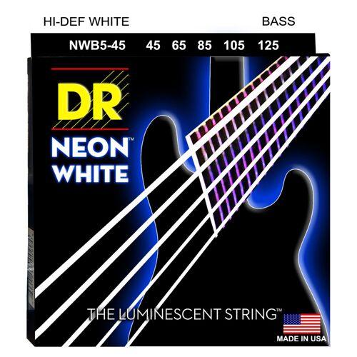 DR - 5er Bass 45-125 Hi-Def Neon White Neon NWB5-45