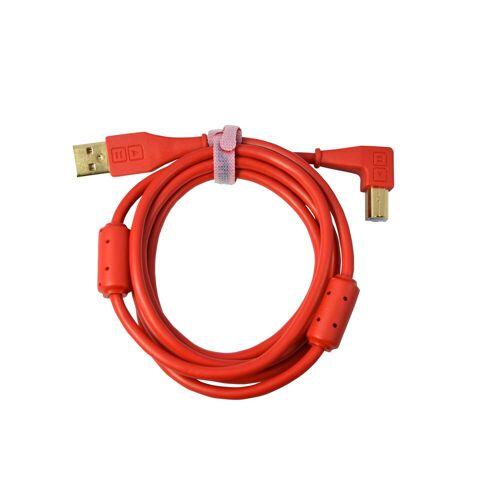 DJ TECHTOOLS - DJTT USB Chroma Cable Red 1,5m, abgewinkelter Stecker