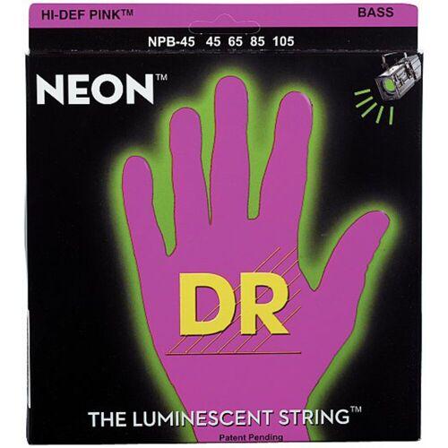 DR - 4er Bass 45-105 Hi-Def Neon Pink Neon  NPB-45