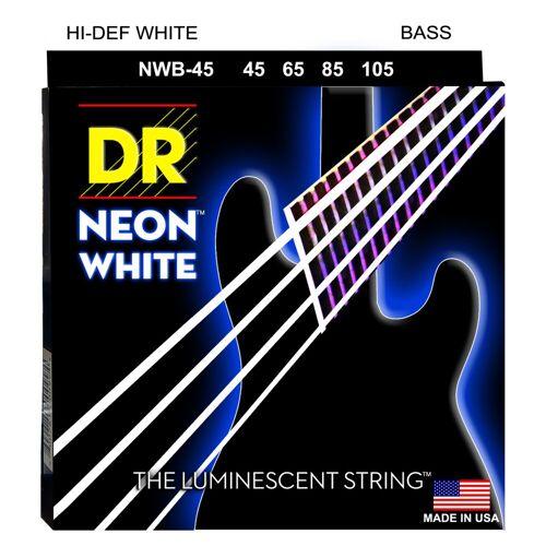 DR - 4er Bass 45-105 Hi-Def Neon White Neon NWB-45