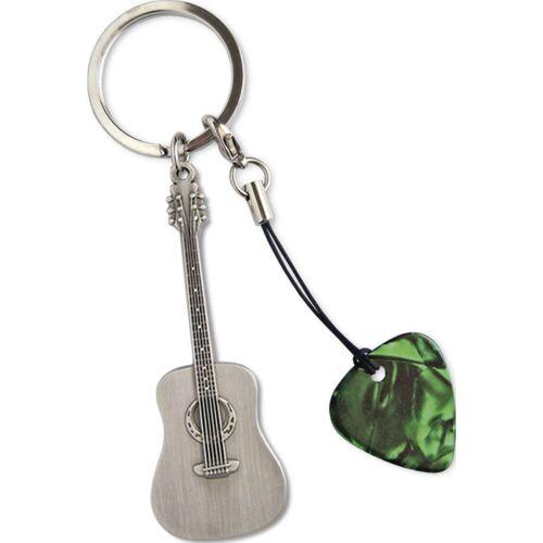 Grover Allman - Schlüsselanhänger Acoustic Gitarrenanhänger + Pick