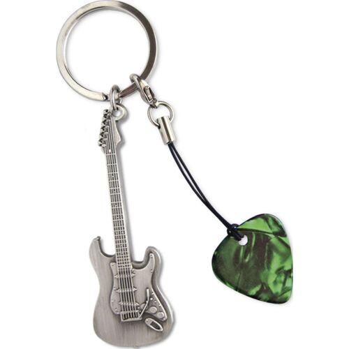 Grover Allman - Schlüsselanhänger Stratocaster Gitarrenanhänger + Pick