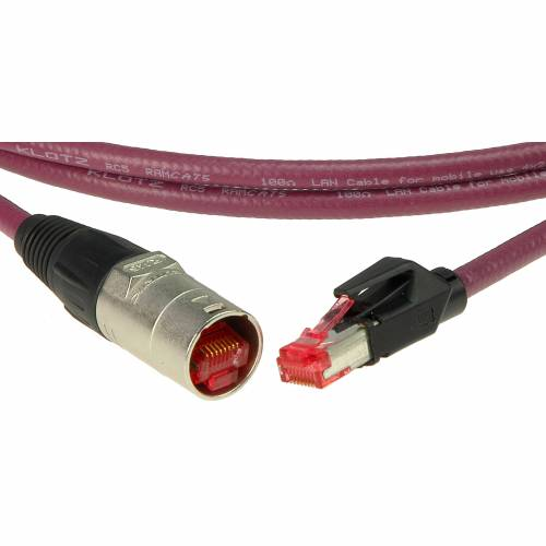 Klotz - CAT-Netzwerkkabel, 3 m etherCON - RJ45, bordeauxviol.