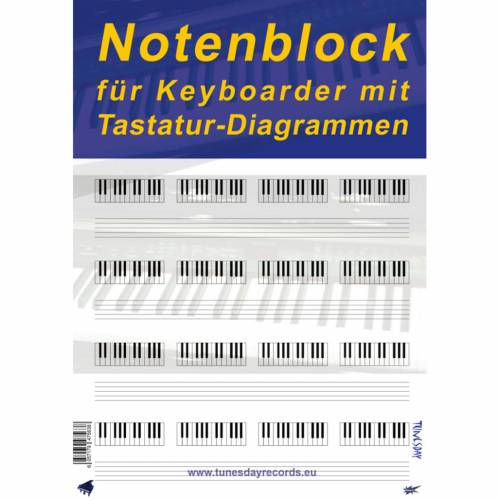Tunesday - Notenblock für Keyboard
