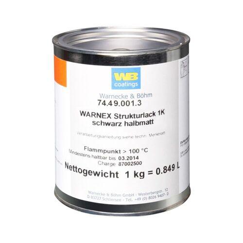 Warnex - Strukturlack 1 kg schwarz