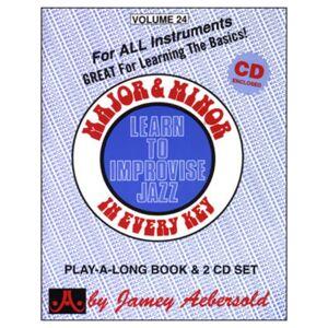 Jamey Aebersold - Aebersold: Major and Minor Vol. 24, inkl. CD
