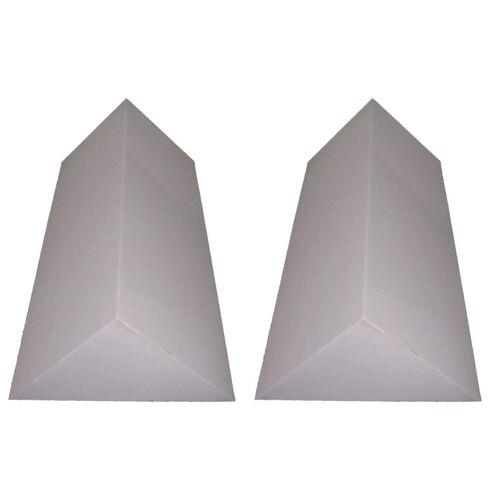 MUSIC STORE - Pyramis BassTrap Eckabsorber Basotect 100x48x67cm, grau, 2x