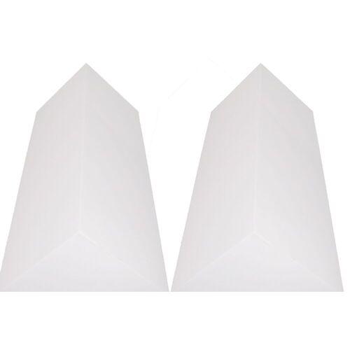 MUSIC STORE - Pyramis BassTrap Eckabsorber Basotect 100x48x67cm, weiß, 2x