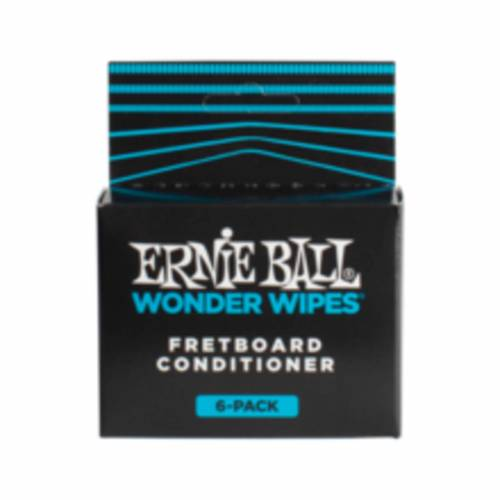 Ernie Ball - EB4276 Wonder Wipes Fretboard Conditioner 6er Pack