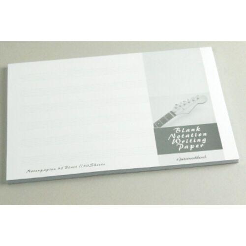 Guitarworkbench - Notenpapier-Block DIN A5 quer