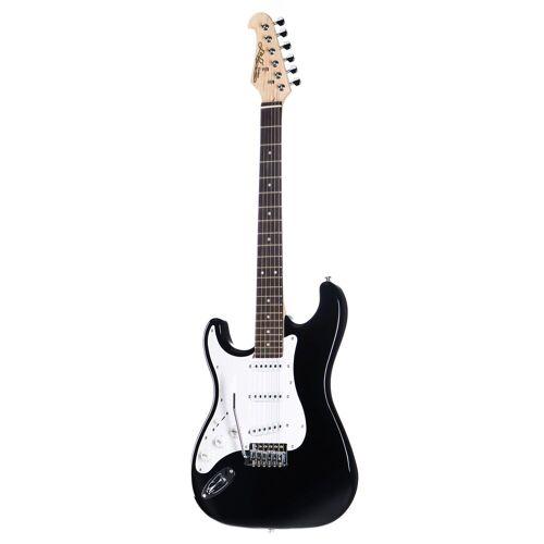 J & D - E-Gitarre ST Rock BK Lefthand Black
