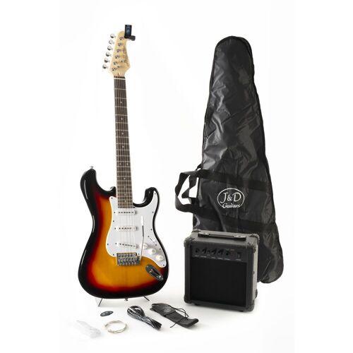 J & D - E-Gitarre ST Pack SB Sunburst