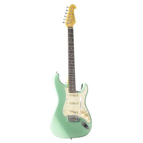 J & D - E-Gitarre ST Vintage Surf Green