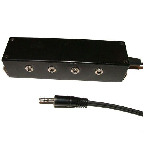 Morgan Acoustic Ltd. - Headphone Splitter 4-Wege 1x 3,5mm 1,5m - 4x 3,5mm
