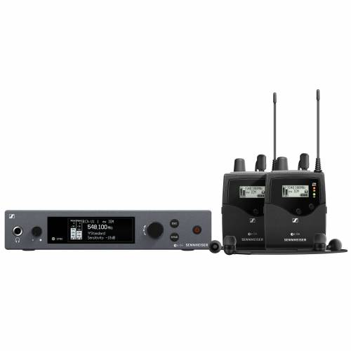 Sennheiser - ew IEM G4-TWIN-E Wireless Monitor Twin Set