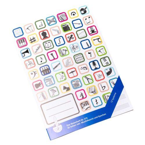 Star Notenschreibpapiere - Notenheft DIN A4 hoch, 315 12 Systeme, 16 Seiten