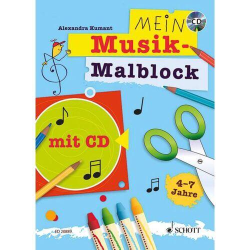 Schott Music - Mein Musik-Malblock mit CD, 4-7 Jahre