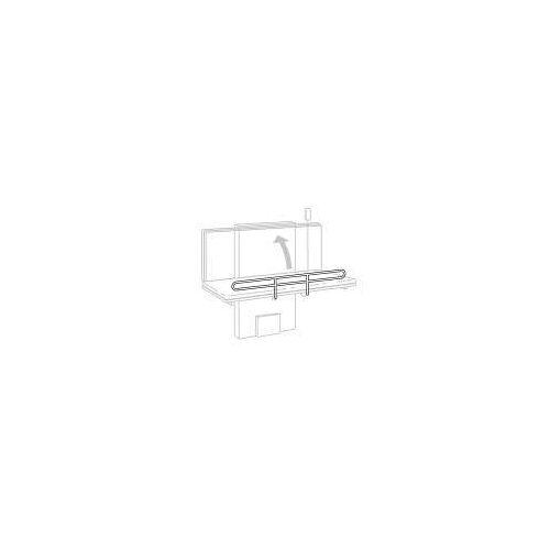 Pressalit Care Seitengitter für hochklappbare Wickeltische Länge von 90 - 140 cm Care B: 90 - 140 H: 15,2 cm weiß RB1922000