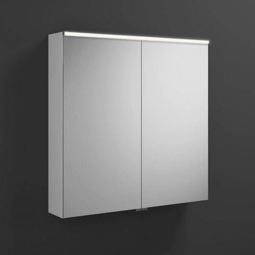 burgbad Euro Spiegelschrank mit LED-Beleuchtung 80 cm, mit 2 Türen Euro B: 80 T: 17 H: 80 cm verspiegelt SPGS080-F3863