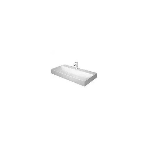 Duravit DuraSquare Waschtisch mit Hahnloch 100 x 47 cm DuraSquare B: 100 T: 47 cm weiß 2353100041