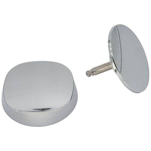 Duravit chromset für Ab-und Überlaufgarnitur mit Quadroval-Drehgriff für Badewannen mit Quadroval-Drehgriff für Badewannen   790594000001000