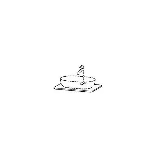 Duravit Luv Quarzsteinkonsole 68,8 x 47,5 cm mit 1 Ausschnitt Luv mit 1 Ausschnitt weiß struktur (quarzstein) LU946501717