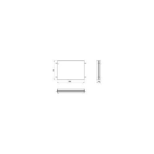 Emco asis prime 2 Einbaurahmen für Unterputz LED-Lichtspiegelschrank 100 cm für asis prime 2 UP-Spiegelschränke 100 x 70 cm   949700018
