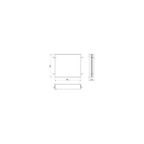 Emco asis prime 2 Einbaurahmen für Unterputz LED-Lichtspiegelschrank 80 cm für asis prime 2 UP-Spiegelschränke 80 x 70 cm   949700019