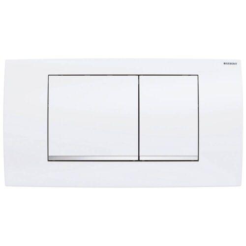 Geberit Twinline 30 Betätigungsplatte für 2-Mengen Spülung Twinline B: 34 H: 18,5 T: 3,2 cm weiß 115.899.KJ.1