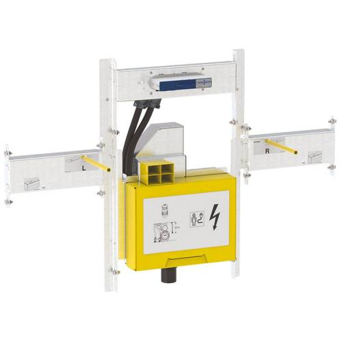 Geberit GIS Set für ONE Waschtisch und für ONE Wandarmatur, mit UP-Drehgeruchsverschluss, Breite Waschtisch 120 cm mit UP-Drehgeruchsverschluss