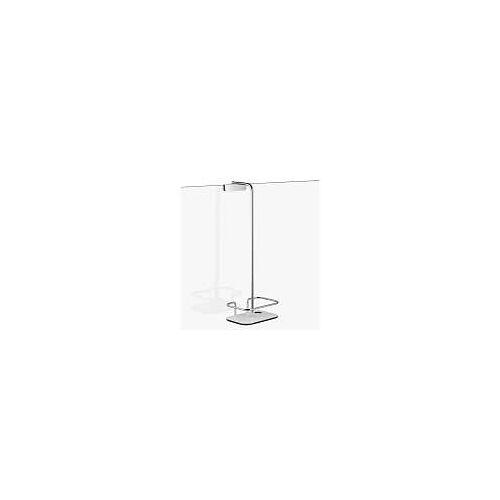 Giese Vipa Duschkorb mit Halter für Rasierer, für Glaswand bis 9 mm Vipa B: 19 H: 52 cm T: 13 chrom/weiß/schwarz 30950-02
