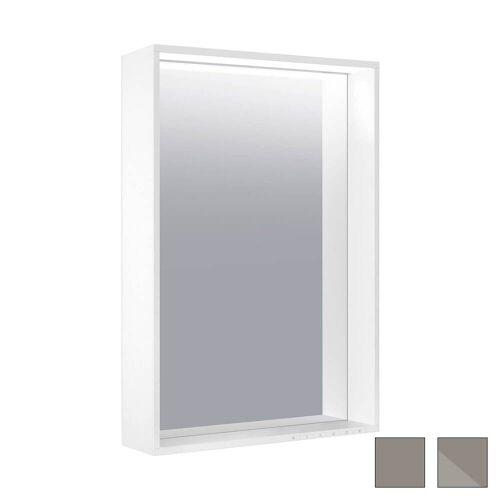Keuco X-Line Lichtspiegel mit Spiegelheizung 46 x 85 cm  mit Spiegelheizung inox 33298291000