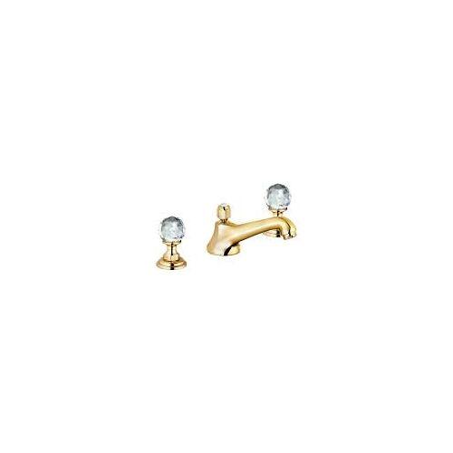 Kludi Adlon Waschtisch-3-Locharmatur mit Kristallgriffe  mit Ablaufgarnitur vergoldet 23 kt 5104645G4